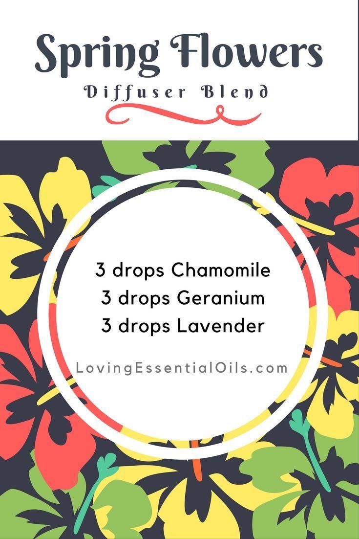 Spring Flower Diffuser Blend | Essential Oils | Geranium Oil | Chamomile Oil | Lavender Oil | Aromatherapy Diffuser