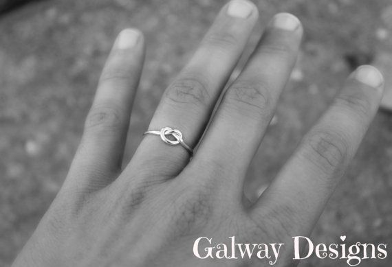 Rose Gold Gold Sterling INFINITY KNOT LOVE Ring  by galwaydesigns,