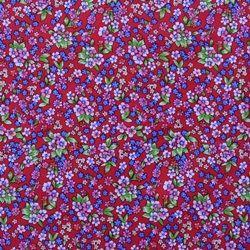 Tela popelín de algodón con estampado liberty con margaritas de color rosa sobre un fondo rojo. Popelín flamenca cachemir, sostenido y de tacto muy suave, ideal para la confección de trajes de flamenca, vestidos, camisas y faldas. http://www.aleko.kingeshop.com/Popelin-Liberty-dbaaaakja.asp