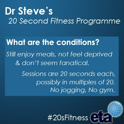 If you wanted to lose weight, tone up or get fit, what conditions would you set yourself?http://goo.gl/9ZP4E #20sFitness