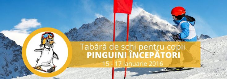 Tabără de schi pentru copii 15-17 ianuarie