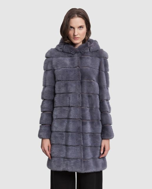 Abrigo de visón de mujer Georges Rech con capucha