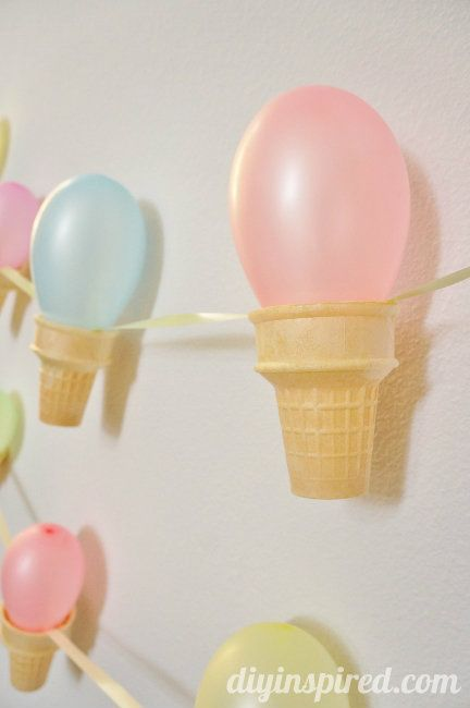 How to make a super easy Ice Cream Cone Party Banner DIY
