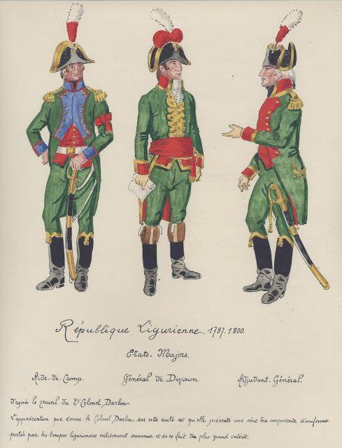 République Ligurienne 1797-1800 Aide de camp Général de division Adjudant Général