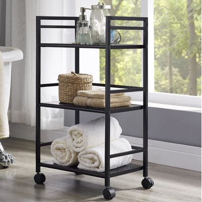 Altra Marshall Three Shelf Rolling Utility Cart & Reviews | Wayfair