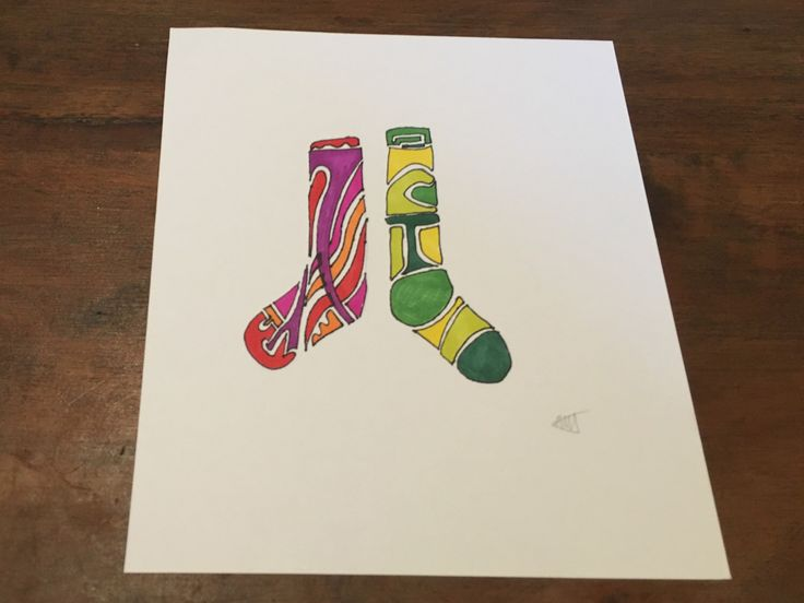 Odd Socks - Handmade Original Artwork by Adele Mary - Ink Drawing by AdeleMaryArts on Etsy https://www.etsy.com/listing/255036486/odd-socks-handmade-original-artwork-by