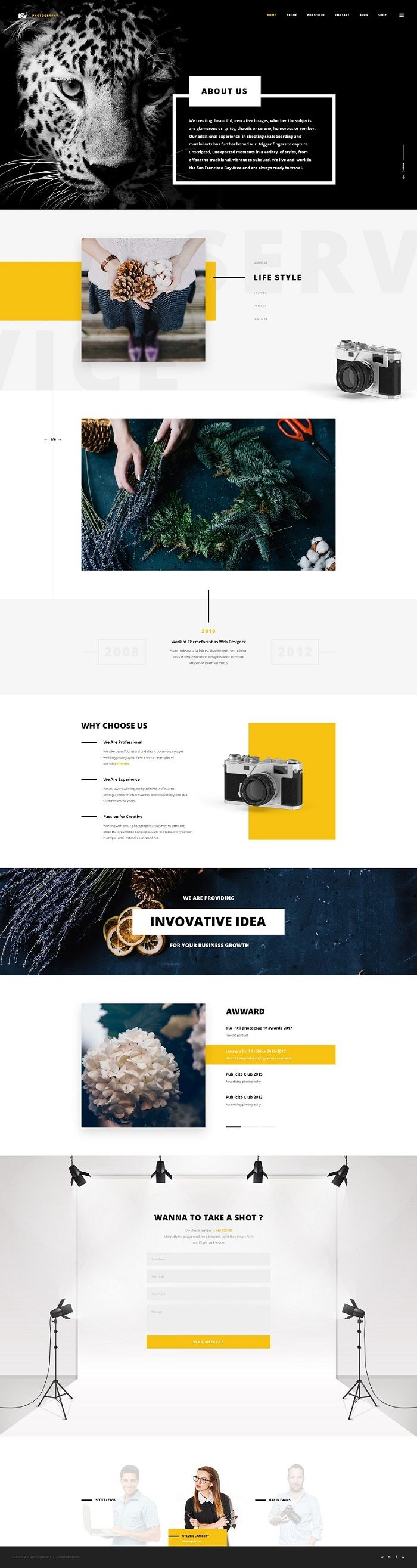 Photography Themes for Websites #DESIGN