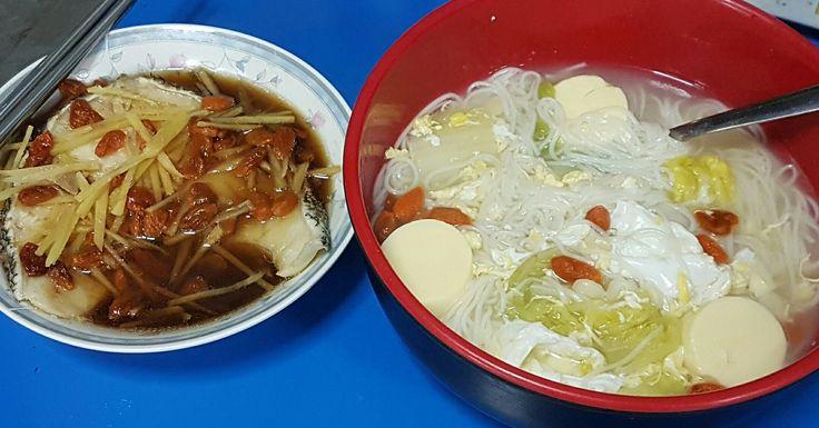 简单就是幸福之 面線汤+蒸鳕鱼 😍 健康又好吃! Mee Suan Soup + Steam Cod Fish✌ Healthy & Delicious!