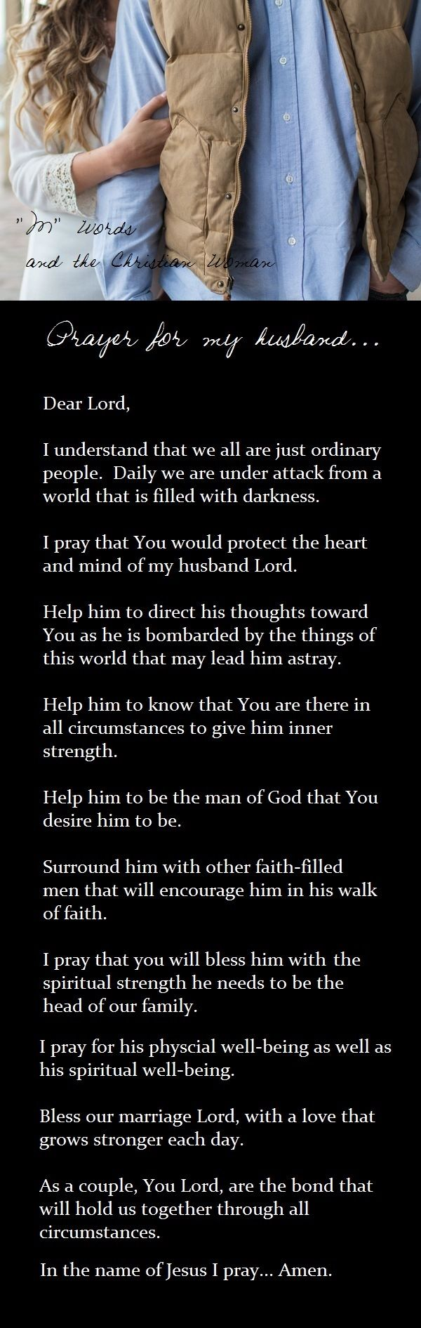 Prayer for my husband...
