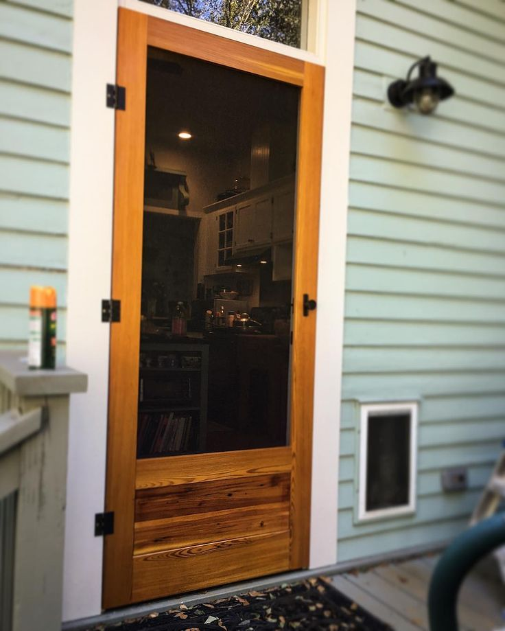 Hereu0027s a great-looking door finished with our Marine finishing system. Our Marine products & 35 best Great Outdoor Wood Projects images on Pinterest | Outdoor ... pezcame.com