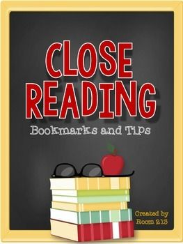 FREE--Close Reading Bookmarks & Tips-- English Language Arts 8th, 9th, 10th, 11th, 12th, Homeschool Novel Study, Printables..Give your students this great tool as they read their texts, so they can be active readers and critical thinkers. Let them make the inferences ...also Included a short slide show to introduce close reading to your students.Give your students further guidance as they learn the process of understanding author purpose,
