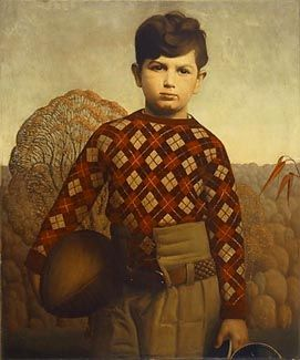 Grant Wood -  Plaid Sweater (1931)