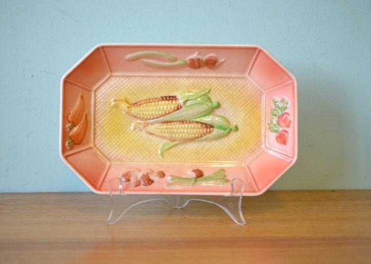 Vintage serving bowl plate Japan Komada Royal - Funky Flamingo