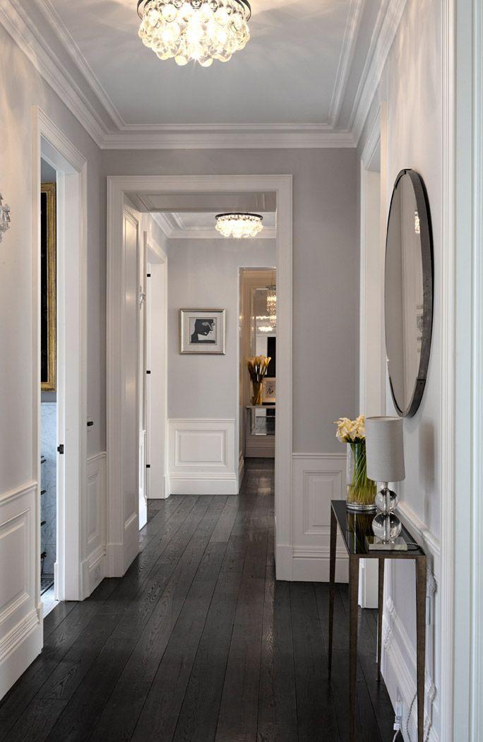 Best design of a living room with dark wood floor