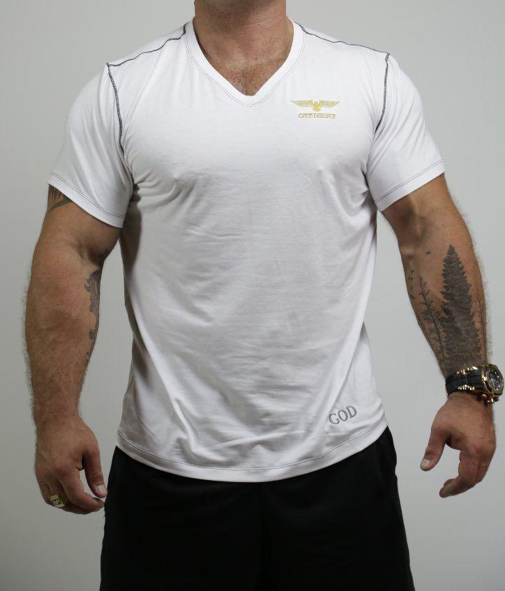 LE CLASSIQUE - T-shirt Viscose Col V White $50,99 CAD