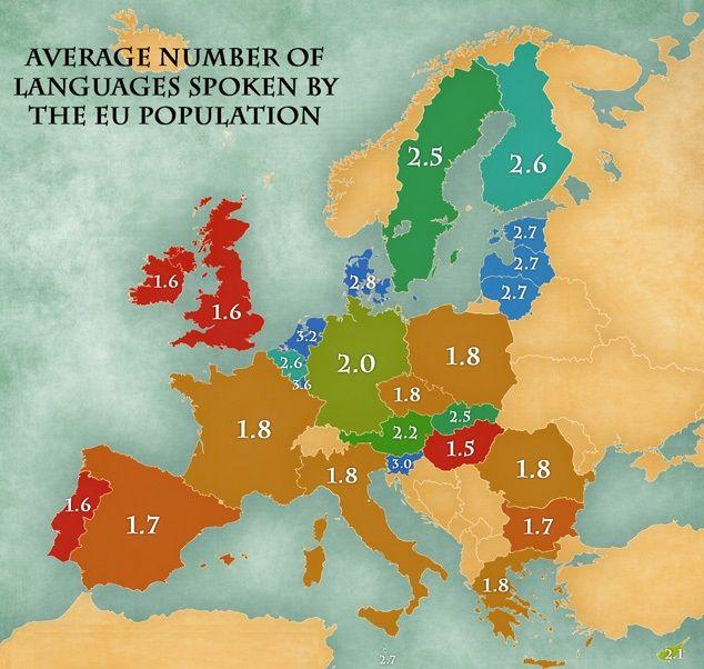 Europos Sąjungos gyventojų mokamos kalbos