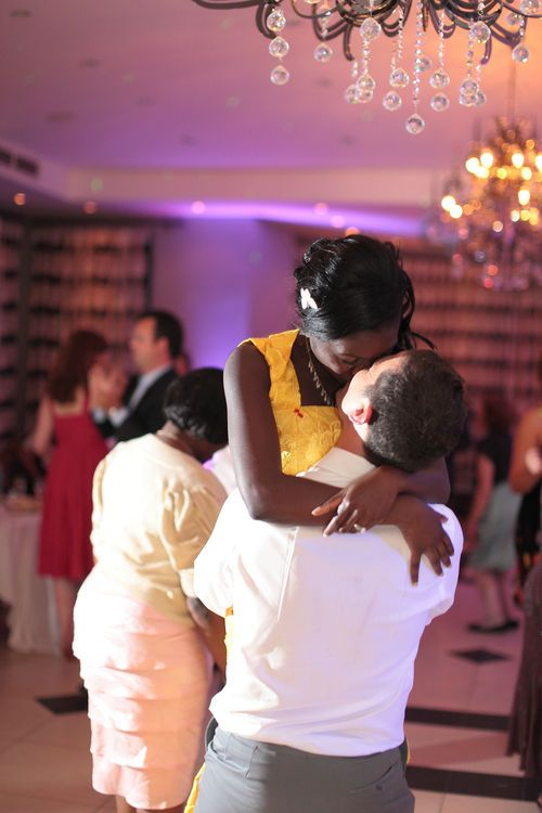 Grrom lifting the bride during their first dance at the Spa Hotel.