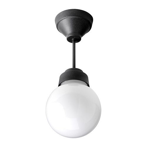 IKEA - VITEMÖLLA, Plafondlamp,  , , Geeft diffuus licht, handig om grotere oppervlakken in de badkamer te verlichten.