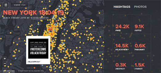 Maps Mania: Mapping Black Friday Hashtags