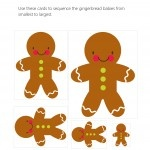 Gingerbread Themed Size Sequencing Practice