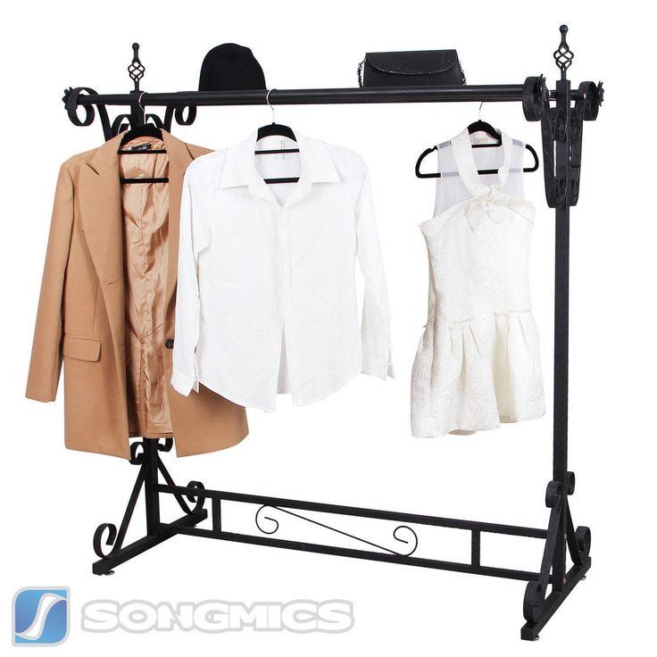 Songmics Kleiderständer Ladeneinrichtung Kleiderstange Garderobenständer HRA006H