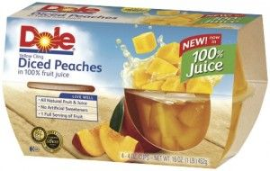 I could eat diced peaches all day! Dole makes the best! FRESH!