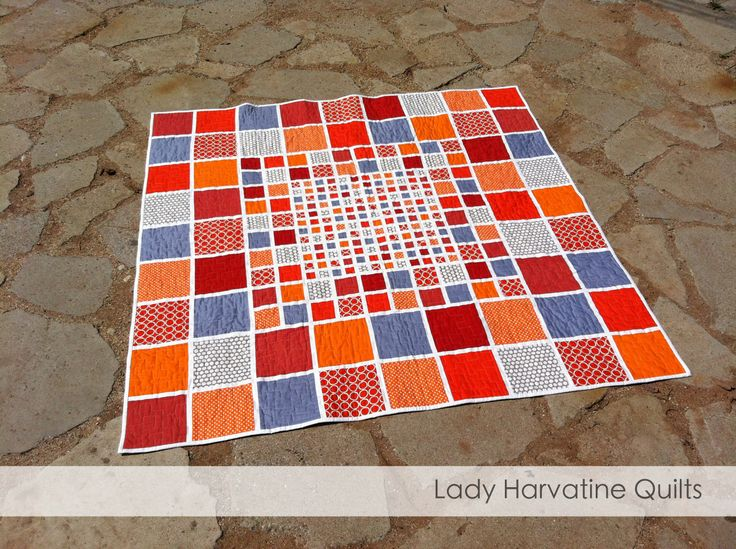 Mosaic Lap Quilt - pattern available at ladyharvatine.com