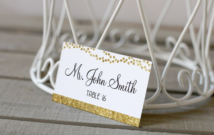 Table Name Cards | Wedding | Gold | Avenue16