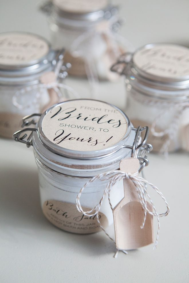 DIY -- Bridal Shower Bath Salts Favors!