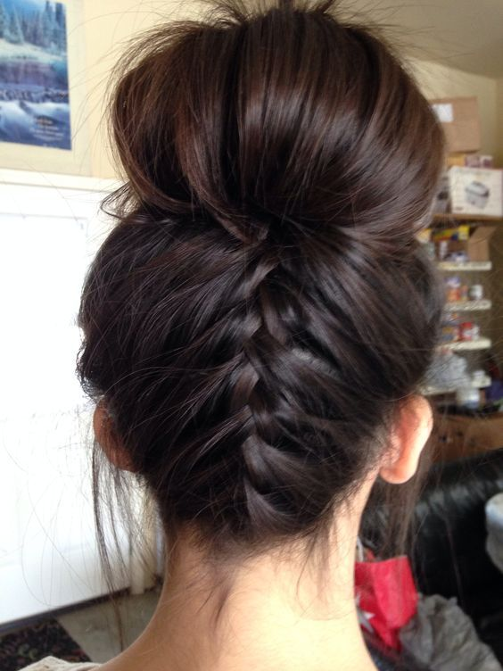 Best 25 french braid buns ideas on pinterest french plait was bored and did my neighbors hair upside down french braid bun chanel lipstick giveaway ccuart Images