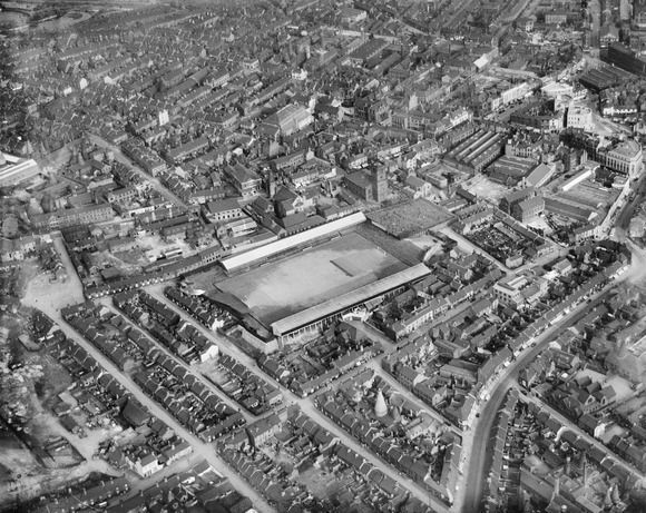 The Port Vale Football Ground and surroundings, Hanley, 1937
