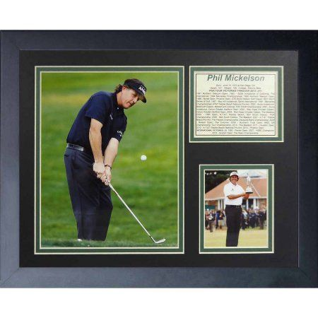Legends Never Die Phil Mickelson Open Framed Photo Collage, 11 inch x 14 inch
