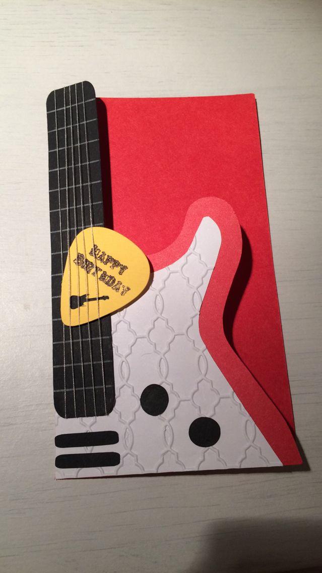 Guitar shaped card
