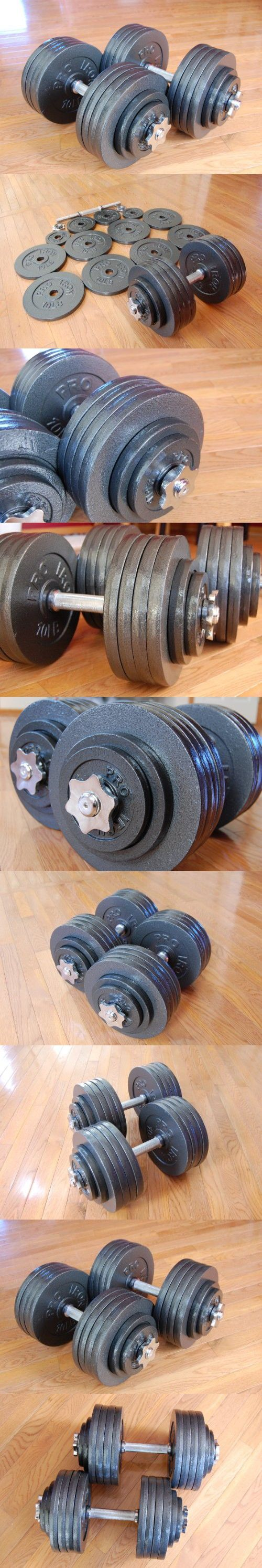 Omnie Adjustable Dumbbells with Gloss Finish and Secure Fit Collars, 200 LBS Sets (Pair)