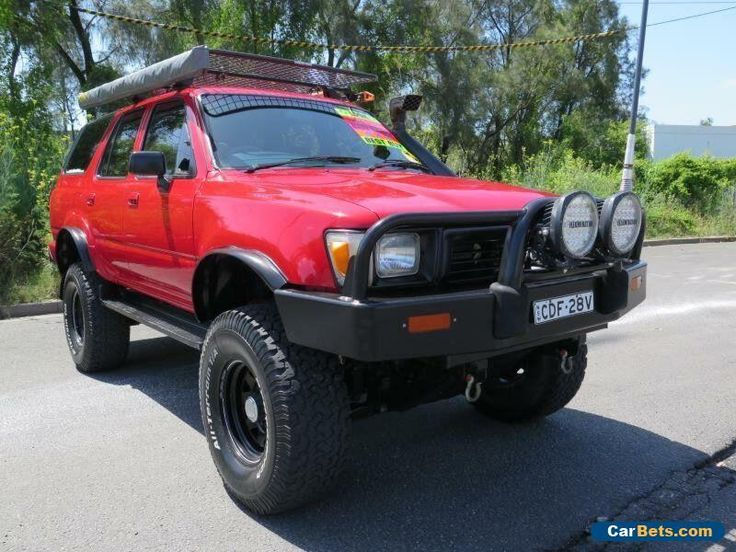 1990 Toyota 4 Runner Red Manual Manual Wagon #toyota #4runner #forsale #australia