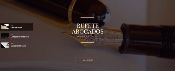 Diseño web Bufete Abogados | Aticwebbcn.com Demo ejemplo