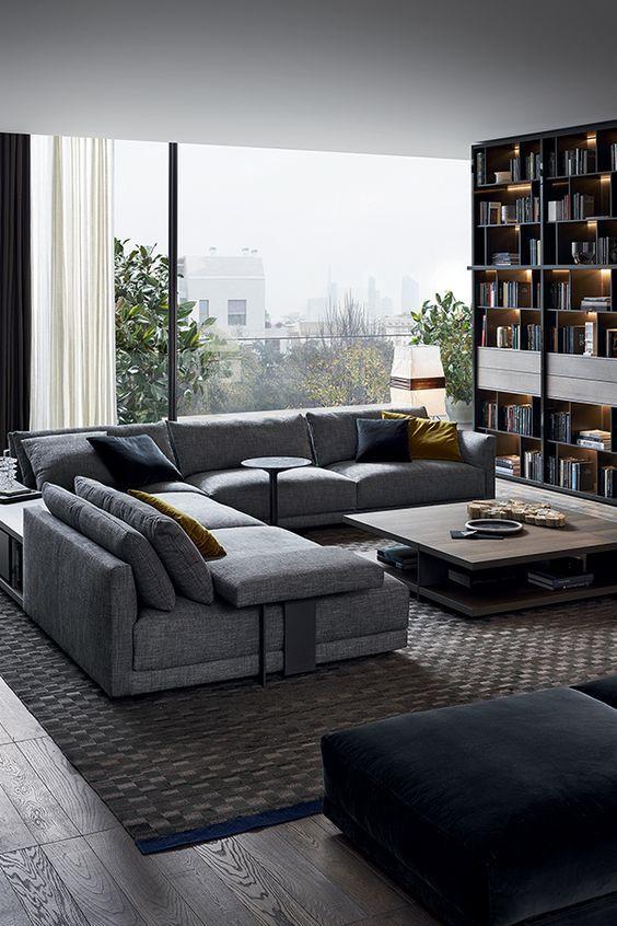 Schön Big Sofas Design Under Modern Stylish Living Room Interior