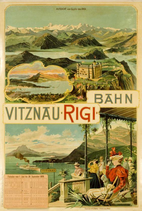 Vitznau-Rigi-Bahn, poster 1899.
