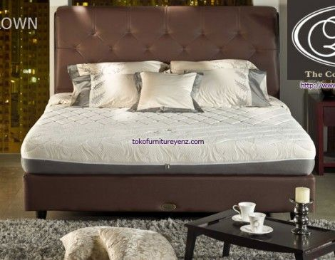 Kasur Spring Bed Elite ROYAL CROWN  Matras 22 cm, Divan Paris 32cm, Sandaran Allium 133 cm FIRM - See more at: http://www.tokofurnitureyenz.com/product/kasur-spring-bed-elite-royal-crown/