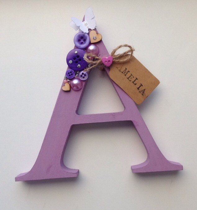 A personal favorite from my Etsy shop https://www.etsy.com/uk/listing/289234819/personalised-letter-free-standing