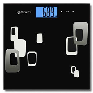Etekcity® Pèse Personne Impédancemètre 180kg, Calculer le Poids, la Masse Graisseuse, Musculaire, Hydrique et Osseuse, et les Besoins…