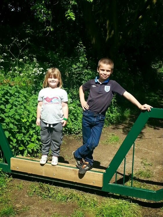 Ethan & Amelia enjoying a walk