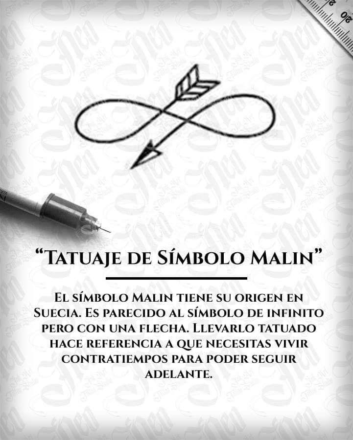 Significado Tatuaje Símbolo Malin Mini Tattoo Tatuajes Tatuajes