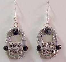 classy looking pop tab earrings