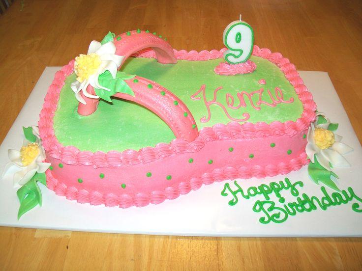 fllip flip birthday cakes | Hot Pink Flip Flop Cake