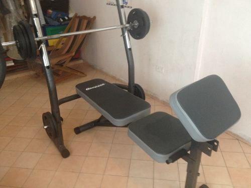 equipo de gimnasio barra plana barra z 100kg en discos