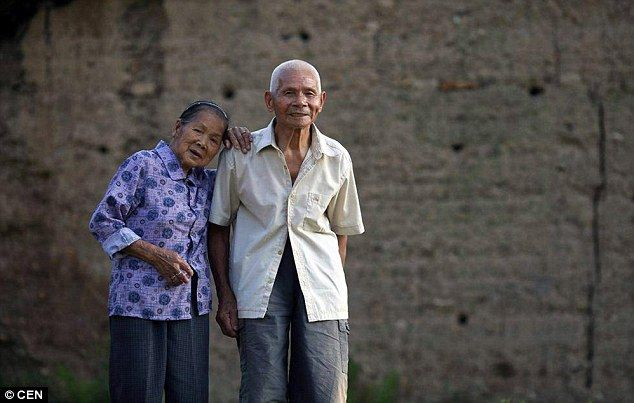 Couple: Wei Basao was given to her husband's family in a traditional arrangement after she was orphaned