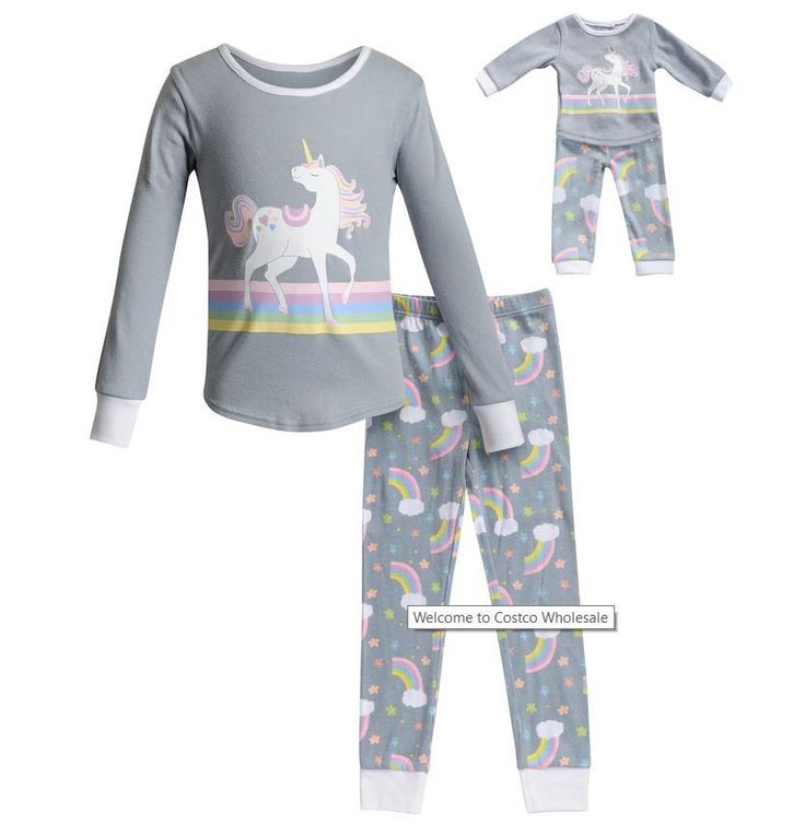 71e198b589 Dollie    Me Girl 4-14 and Doll Matching Princess Pajama Set Outfit  American Girl best Christmas gift