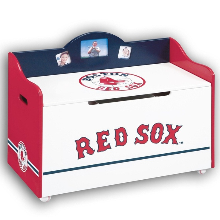 Red sox toy chest for boys room anthony for Boston red sox bedroom ideas