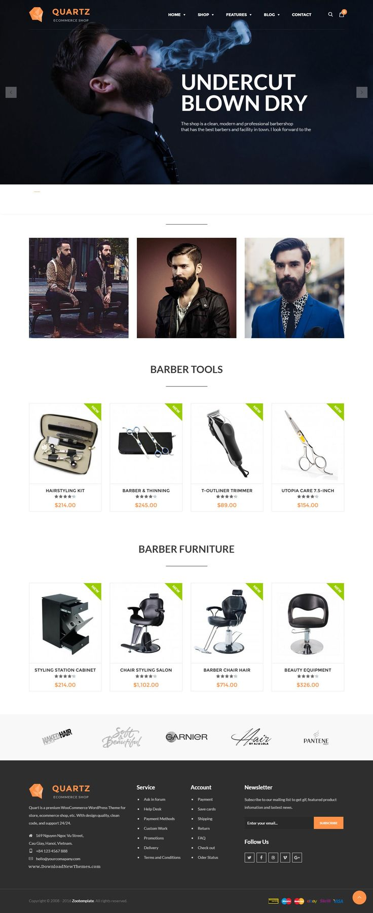 Ri Quartz - Responsive Multipurpose WooCommerce Theme Demo #Barbra #hairstyle #website